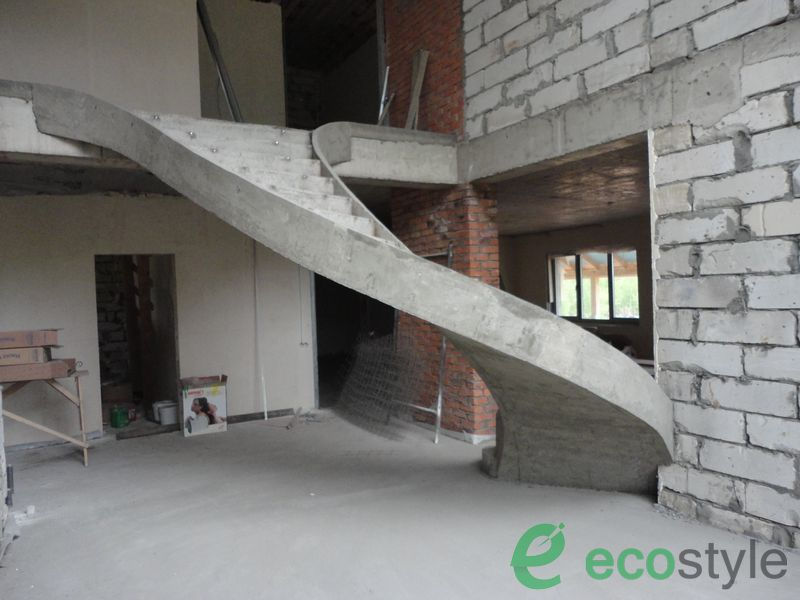 Изготовление монолитно-бетонных лестниц - армирование, облицовка