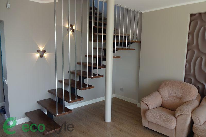 лестница в доме на второй этаж в стиле лофт